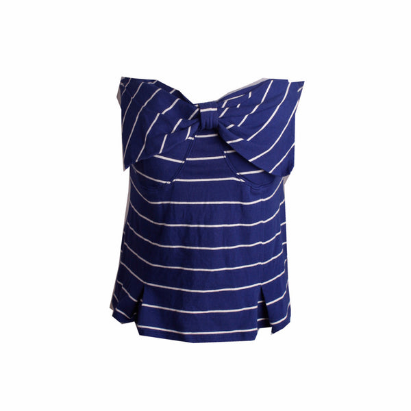 Cotton On Striped Tube Top with Front Bow [L] - VOWS Malaysia