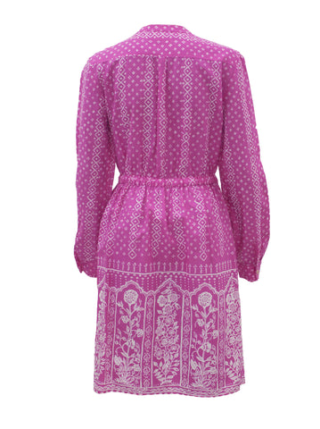 Meadow Rue Printed Pink Button Up Midi Dress - Size [US 2] - VOWS Malaysia
