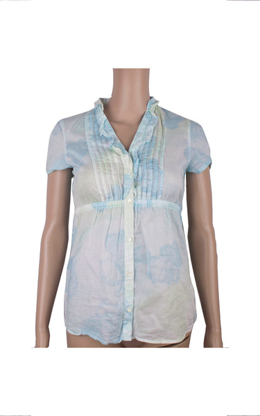 Esprit Blue Sheer Shirt [Size UK 8] - VOWS Malaysia