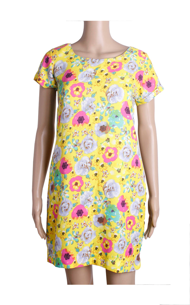 H&M Yellow Floral Dress [Size L] - VOWS Malaysia