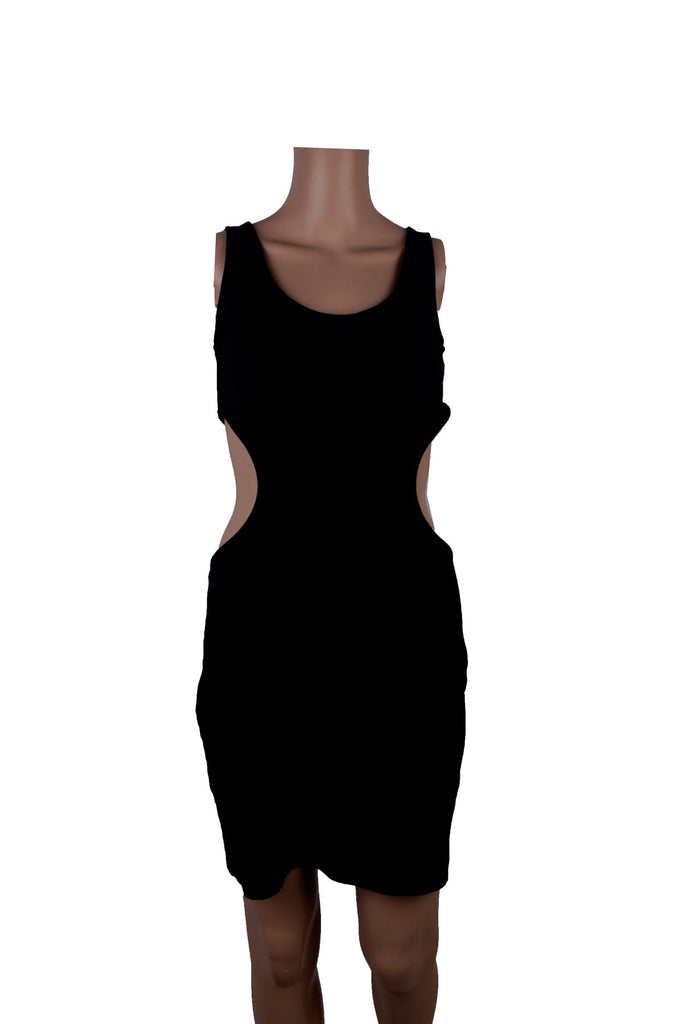 H&M Black Slit Backless Dress [EUR 38] - VOWS Malaysia