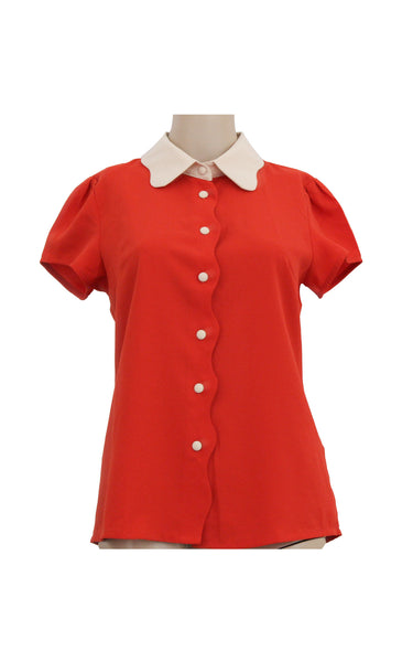 Red Collared Shirt [Size M]