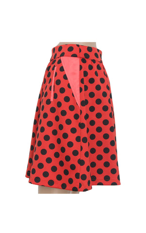 Red Polka Dot Mini Skirt [Size M]