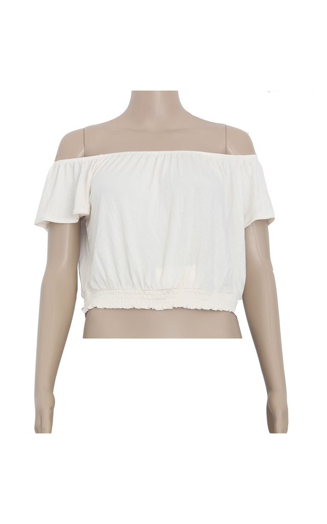 H&M Coachella Collection White Crop Top [Size M] - VOWS Malaysia