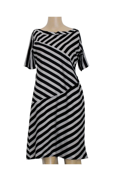 Blue Striped Boatneck Dress [Size M] - VOWS Malaysia