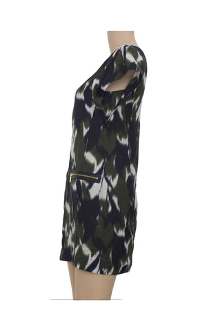Green Abstract Shift Dress [Size XS] - VOWS Malaysia