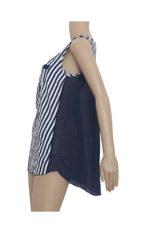 Striped Blue Tank Top [Size L]