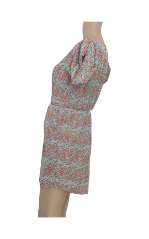 Abstract Mini Dress with Sleeve Details [Size S]
