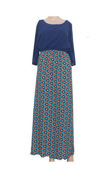 Poppy Maxi Jubah with Abstract Prints [Size L]