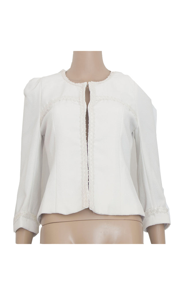 White Cardigan with Lace Details [Size M]