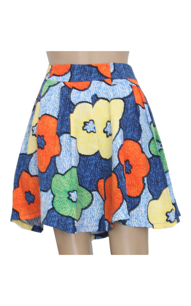Floral Mini Flare Skirt [Size S]