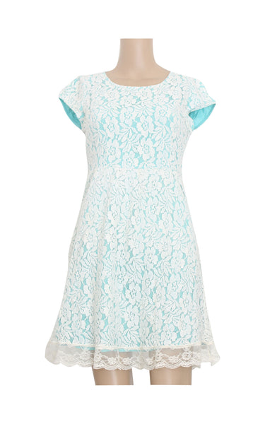 Blue Full  Lace Dress [Size M] - VOWS Malaysia