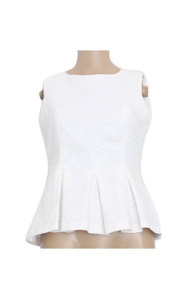 Miss Selfridge White Peplum [Size US 6 / UK 10]