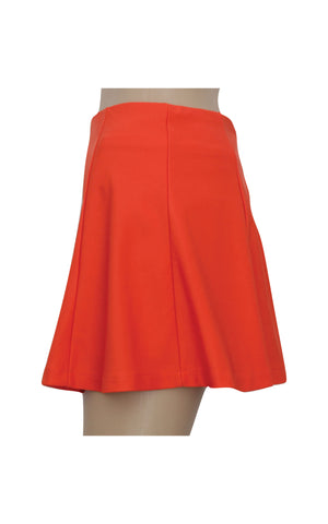 Red Flare Mini Skirt  [Size S]