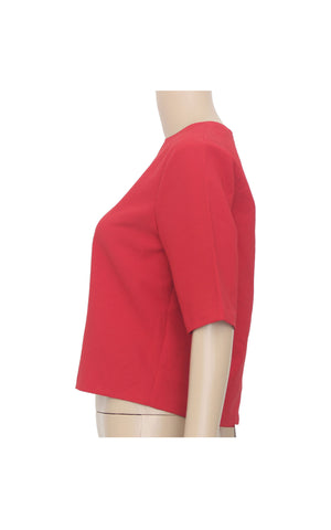 Padini Red Crop Top with Back Zip [Size M]