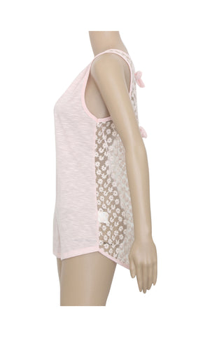Floral Tank Top with Back Ties [Size L] - VOWS Malaysia