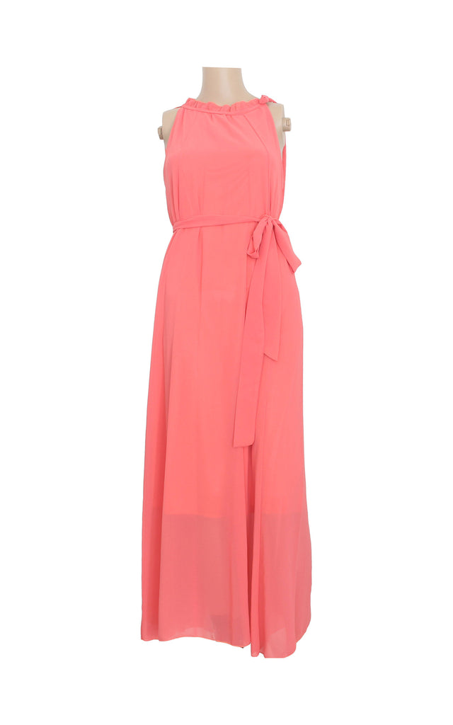 Pink Maxi Dress with Neckline Details [Size L]