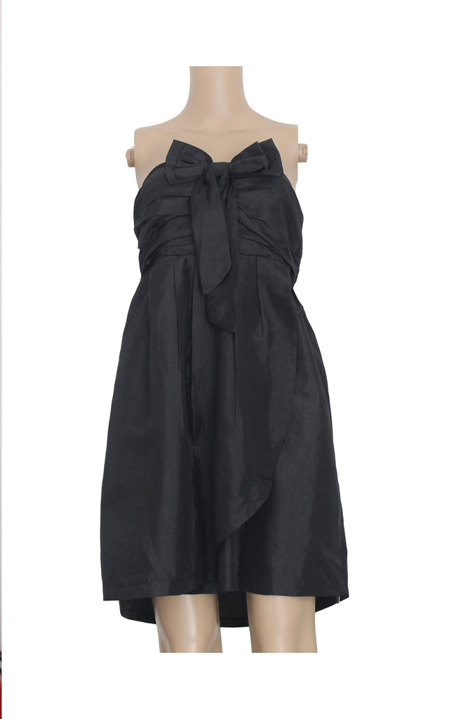 Black Tube Dress with Bow [Size M] - VOWS Malaysia