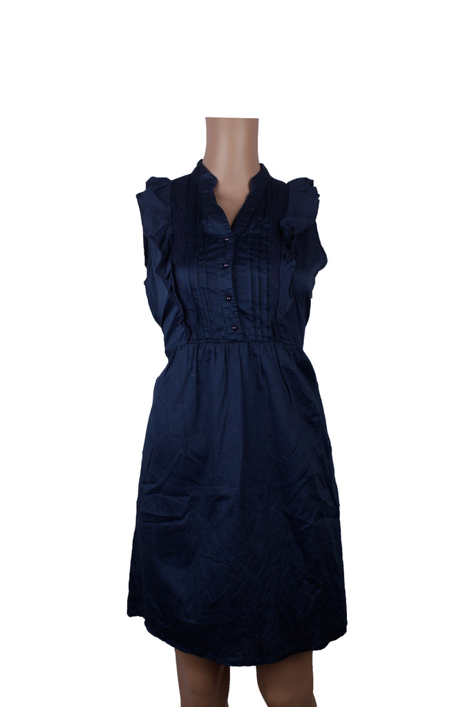 MISC Blue Sleeveless Shirt Dress [S] - VOWS Malaysia