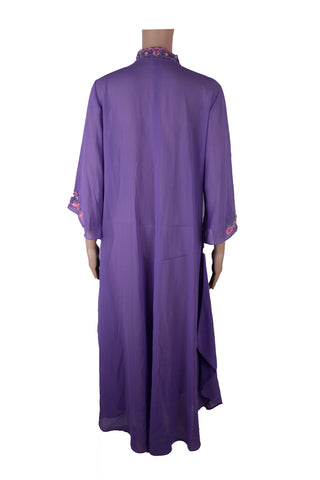 MISC Sheer Purple Maxi Dress [L]