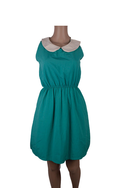 MISC Green Sleeveless Shirt Dress [S]