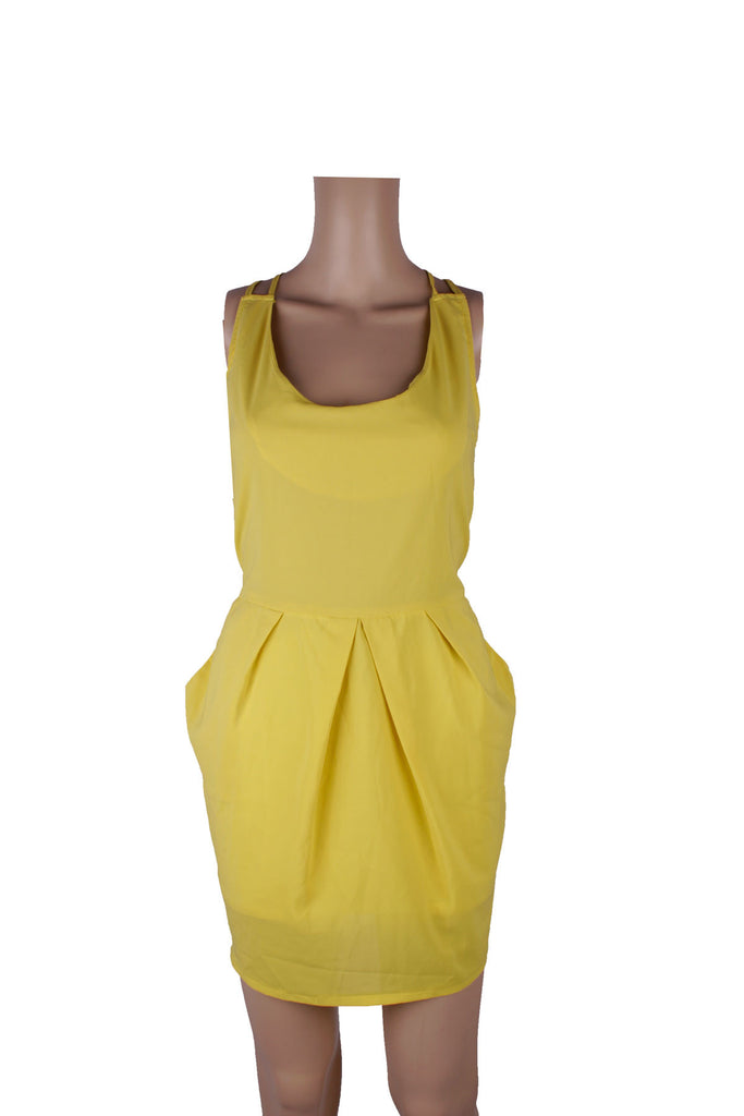 MISC Yellow Mini Dress with Strap Back [S]