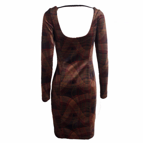 MISC Brown Midi Dress Size [M] - VOWS Malaysia