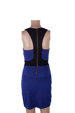 MISC Halter Blue Dress with Back Zip [S]
