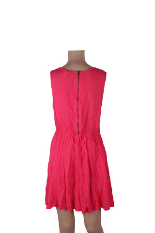 MISC Bright Pink Summer Dress with Back Zip [S]