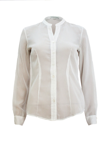Communique Sheer White Shirt - Size [S] - VOWS Malaysia