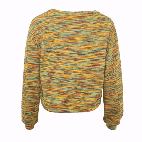 Mrcgirl Multi Colored Cropped Sweater - Size [M] - VOWS Malaysia