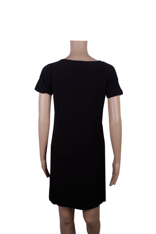 TREATS Black Midi Dress with Crunched Neckline [S] - VOWS Malaysia