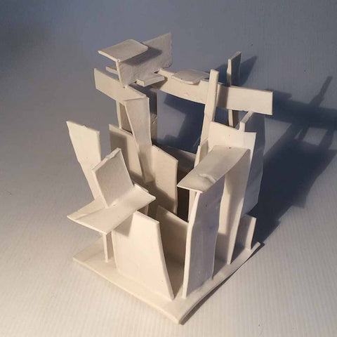 Skyrise made of clay