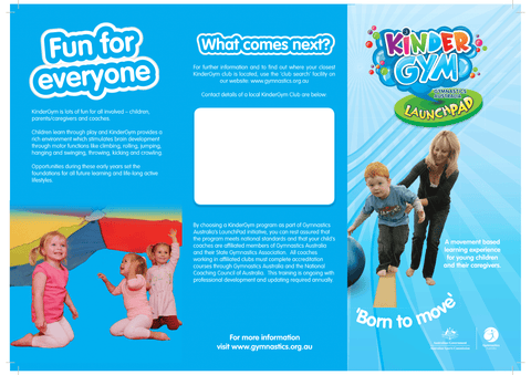 KinderGym Brochure - Pack of 20