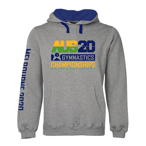 2020 Aus Gym Hoodie Grey Marle (Adults/Kids)