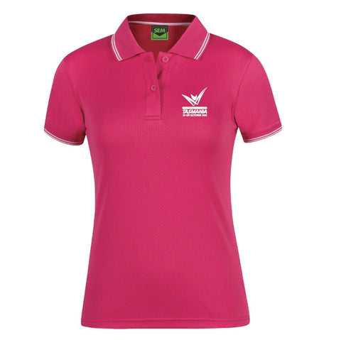 AMG Ladies Honeycomb Polo