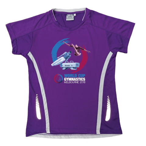 GWC 2018 Ladies Tech T-Shirt (Purple/White)