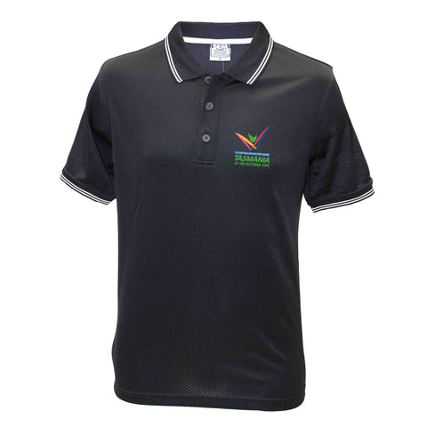 AMG Mens Honeycomb Polo
