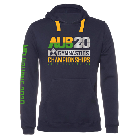 2020 Aus Gym Hoodie Navy (Adults/Kids)