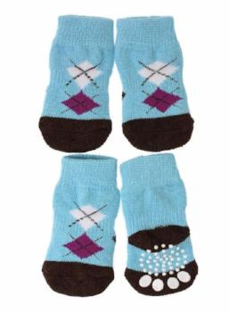 Clearance - Blue / Black Argyle Pet Socks-High Society Canine-High Society Canine