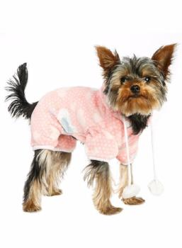 Pink Onesie Pajamas with Hood - Pajamas - Urban Pup - High Society Canine LLC - 1