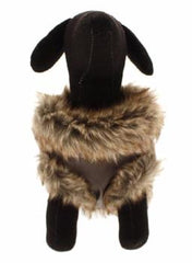 Brown Leather Fur Trimmed Flying Jacket (Coat) - Coat - Urban Pup - High Society Canine LLC - 4