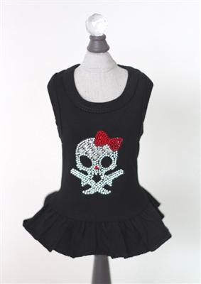 Molly Skull w/ Red Bow Dress-Hello Doggie-High Society Canine