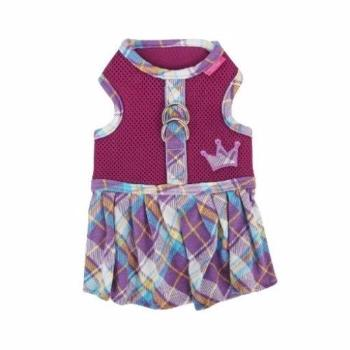 Clearance - Dainty Flirt Dog Harness Dress by Pinkaholic - Purple