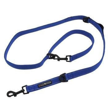 6 Way Multi-Function Dog Leash - Cobalt Blue-Doggie Design-High Society Canine