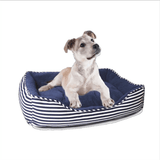 Ahoy Striped Dog Bed - Blue