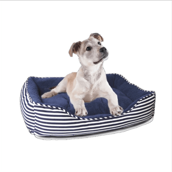 Ahoy Striped Dog Bed - Blue-Parisian Pet-High Society Canine