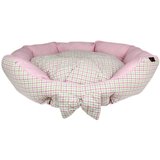 Parisian Pet Pinkberry Plaid Dog Bed-Parisian Pet-High Society Canine