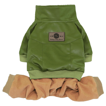 Bomber with Corduroy Pants Dog Jumpsuit - Green-Dobaz,Parisian Pet-High Society Canine