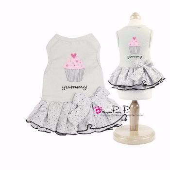 Clearance - Pretty Pet Yummy Dress (Gray)-High Society Canine-High Society Canine